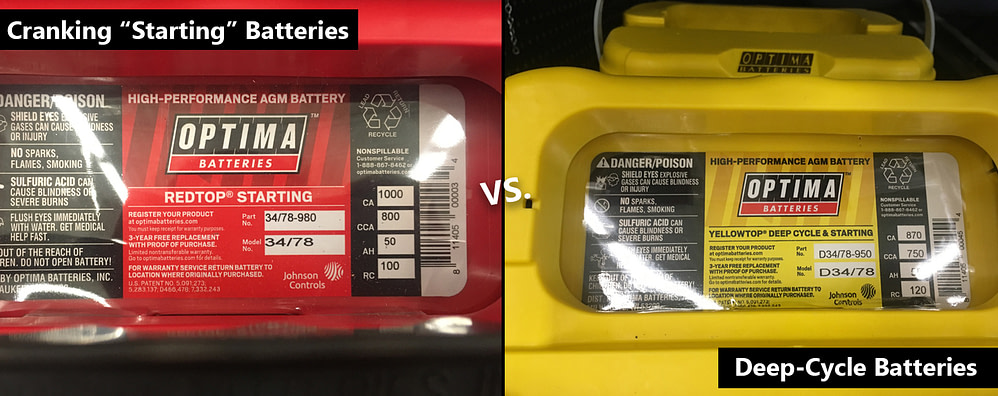 Cranking Starting Batteries Vs Deep Cycle Batteries